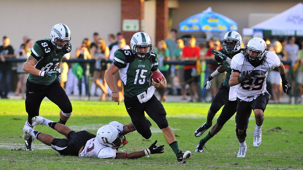 Tentler Leads Hatters to Homecoming Win, 26-13